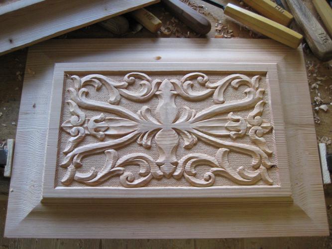 Relief und Ornament-Haustürfüllung
