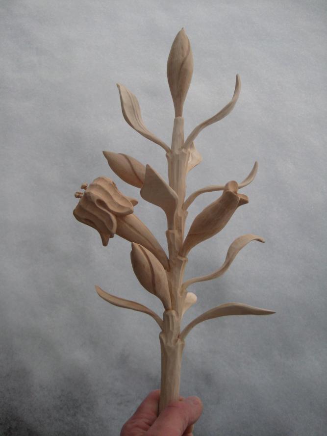 Geiserstanger Hubert-Lilienstab für Heiligenfigur